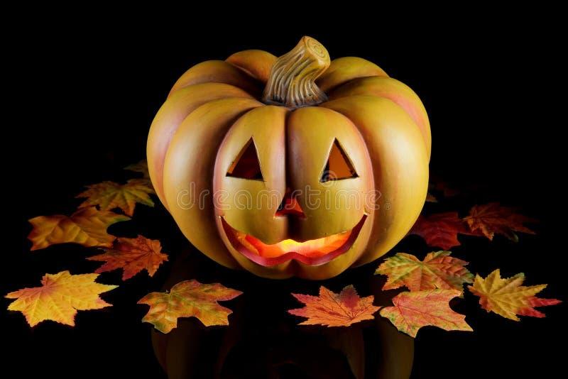 черная тыква halloween стоковое изображение rf