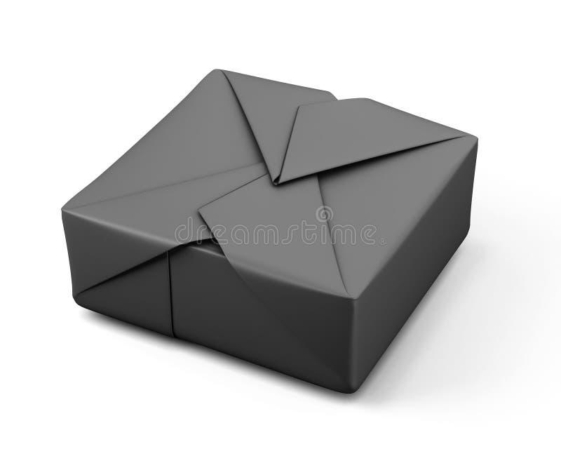 Черная упаковка бумаги бесплатная иллюстрация