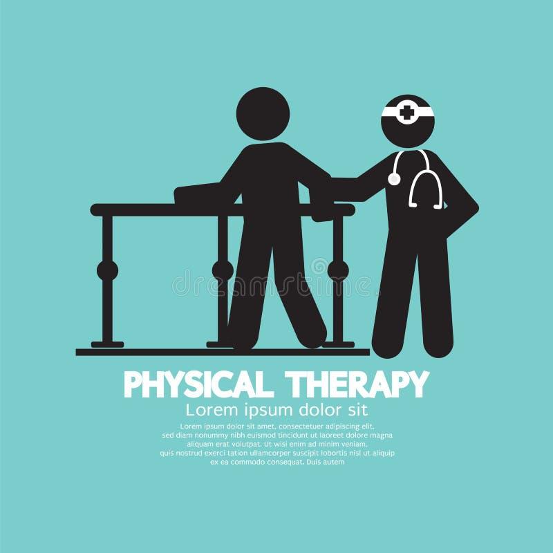 Черная физиотерапия символа бесплатная иллюстрация