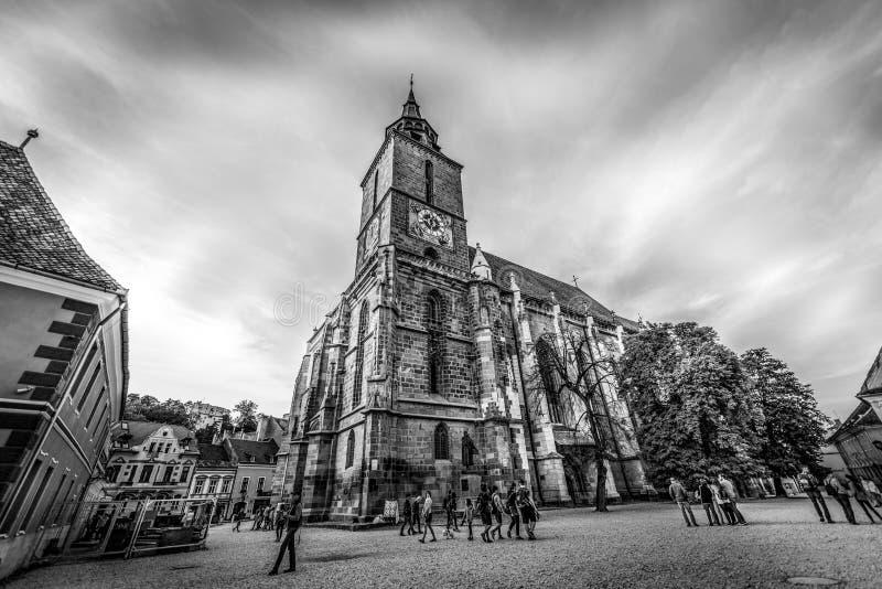 черная церковь Румыния brasov стоковая фотография