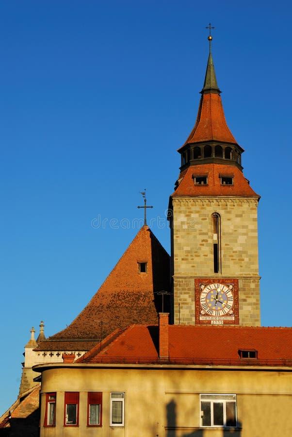 черная церковь Румыния brasov стоковые фотографии rf