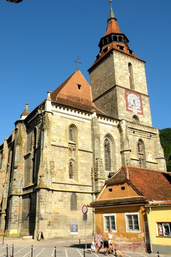 черная церковь Румыния brasov стоковое изображение rf