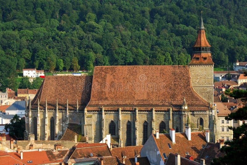 Черная церковь (Brasov) Румыния стоковое изображение rf