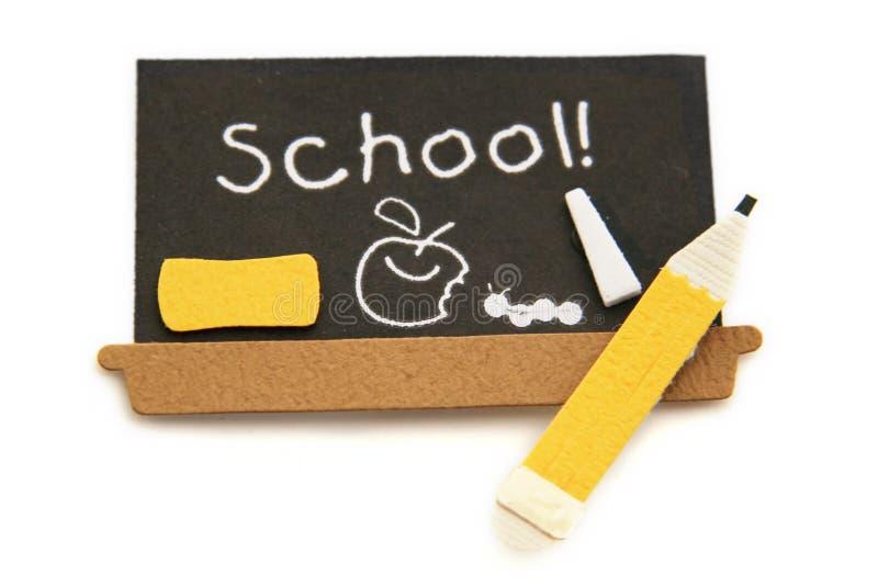 черная школа карандаша доски Стоковая Фотография RF