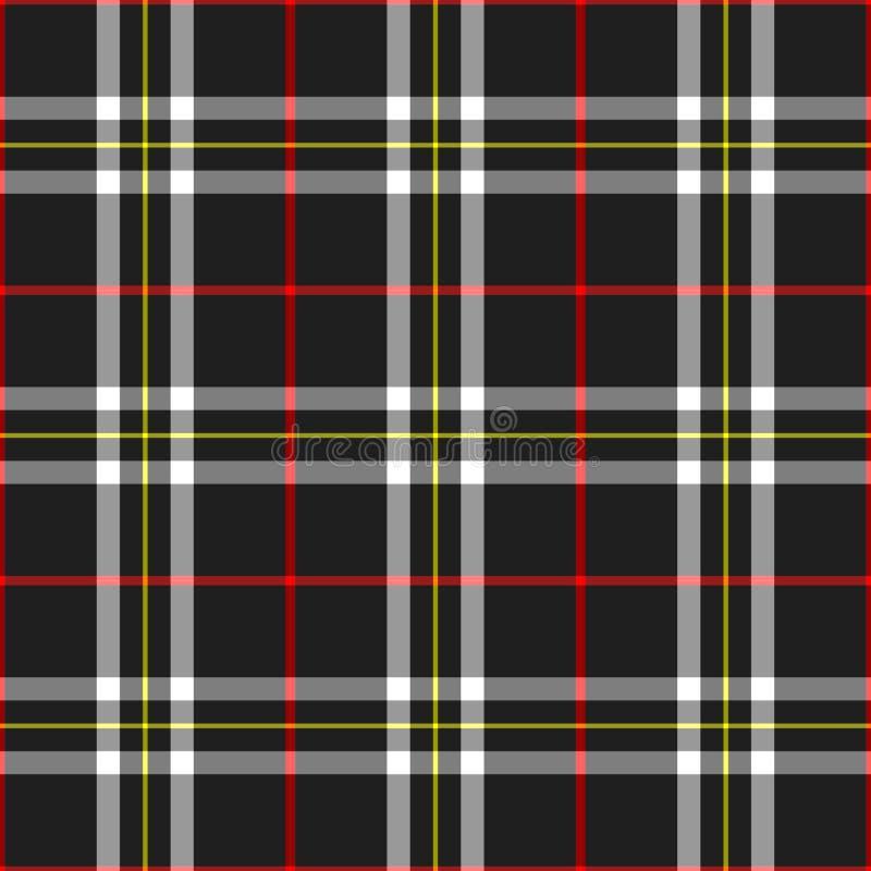 черная шотландка иллюстрация вектора
