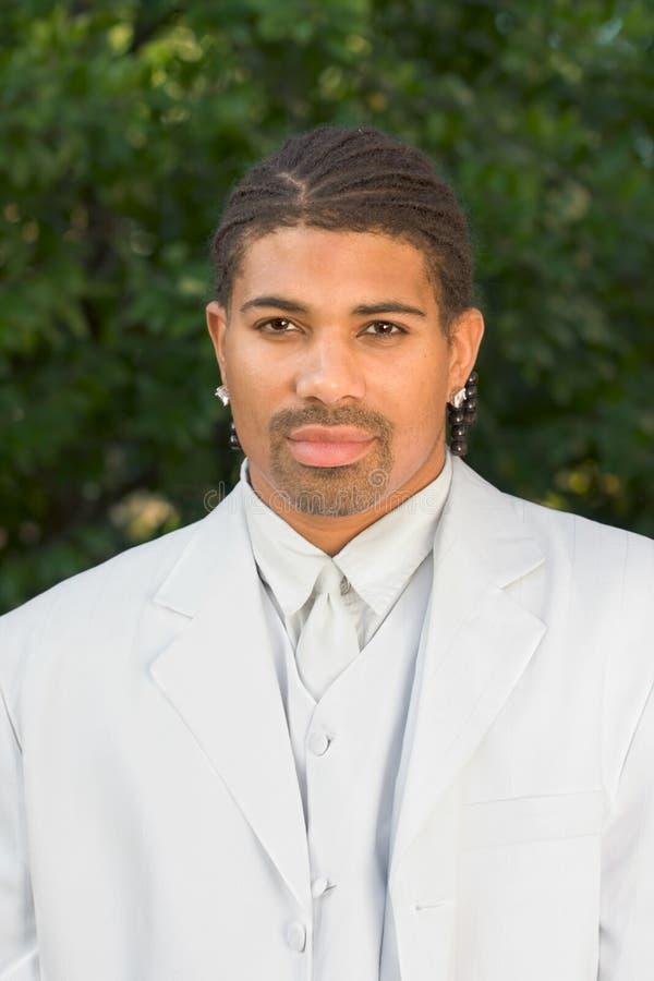 черная этническая белизна портрета человека headshot стоковое изображение rf