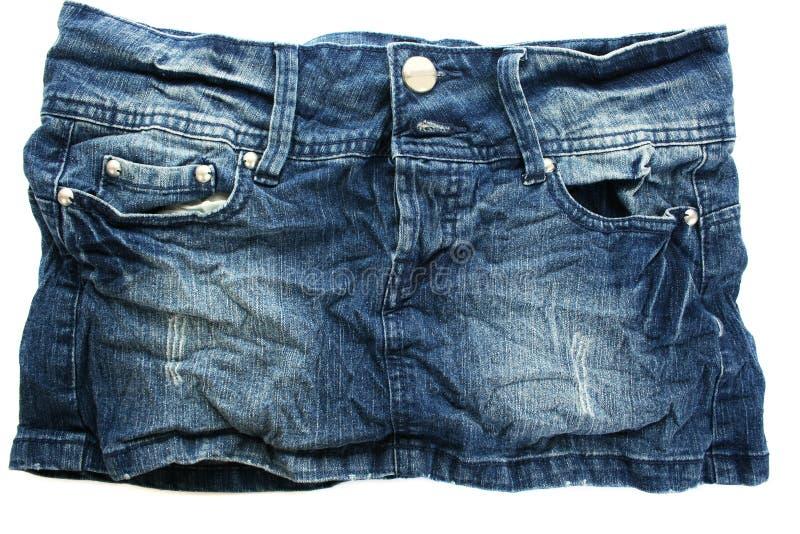 Черная юбка джинсыов стоковые фотографии rf