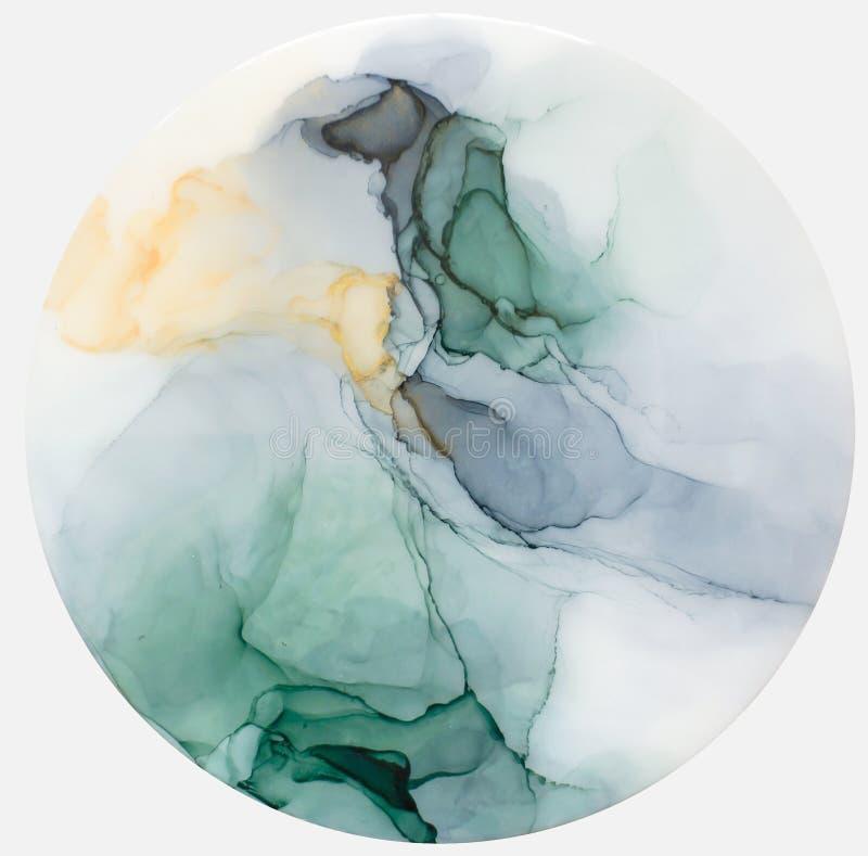 Чернила, краска, абстрактная Крупный план картины Цветастая абстрактная предпосылка картины Высок-текстурированная краска масла В стоковые изображения
