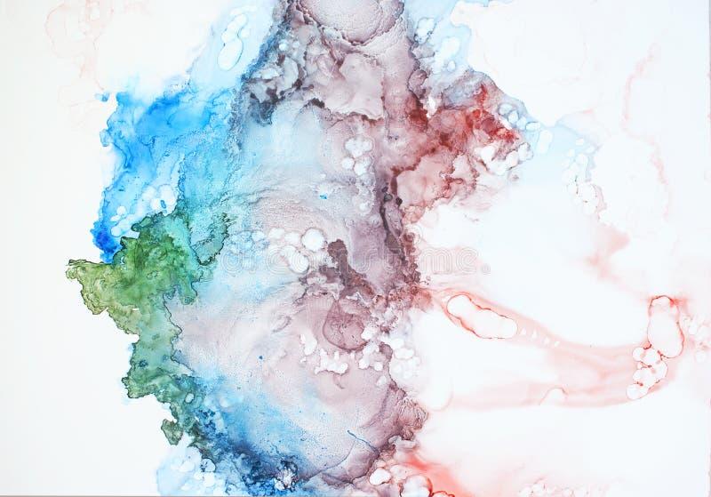 Чернила, краска, абстрактная стоковое изображение rf
