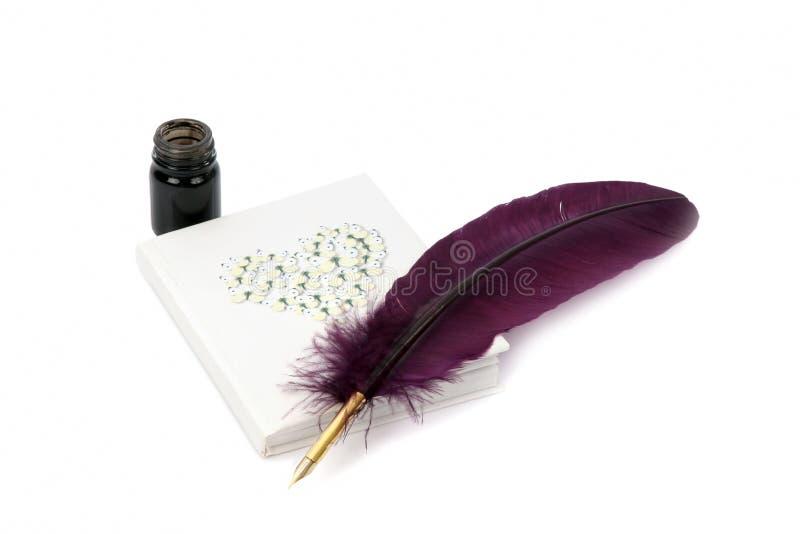 чернила пера дневника стоковое фото