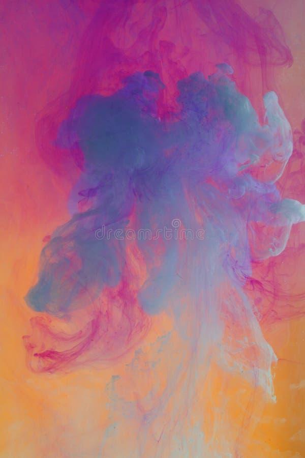 чернила предпосылки цветастые стоковое изображение