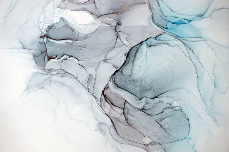 Чернила спирта, абстрактная картина стоковые фото
