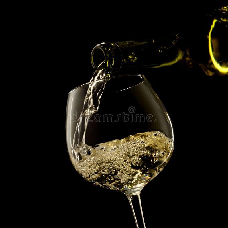 черное белое вино стоковое изображение rf