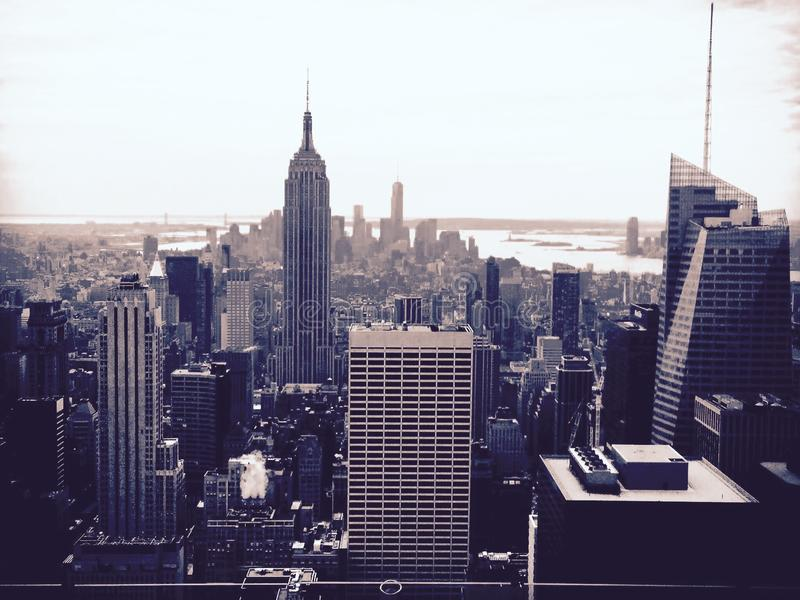 Черное & белое NYC стоковые фото