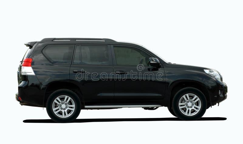 Черное большое SUV стоковые изображения rf