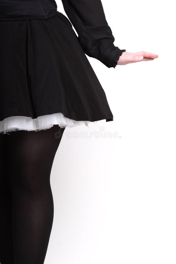 черное женское вид сзади стоковая фотография rf