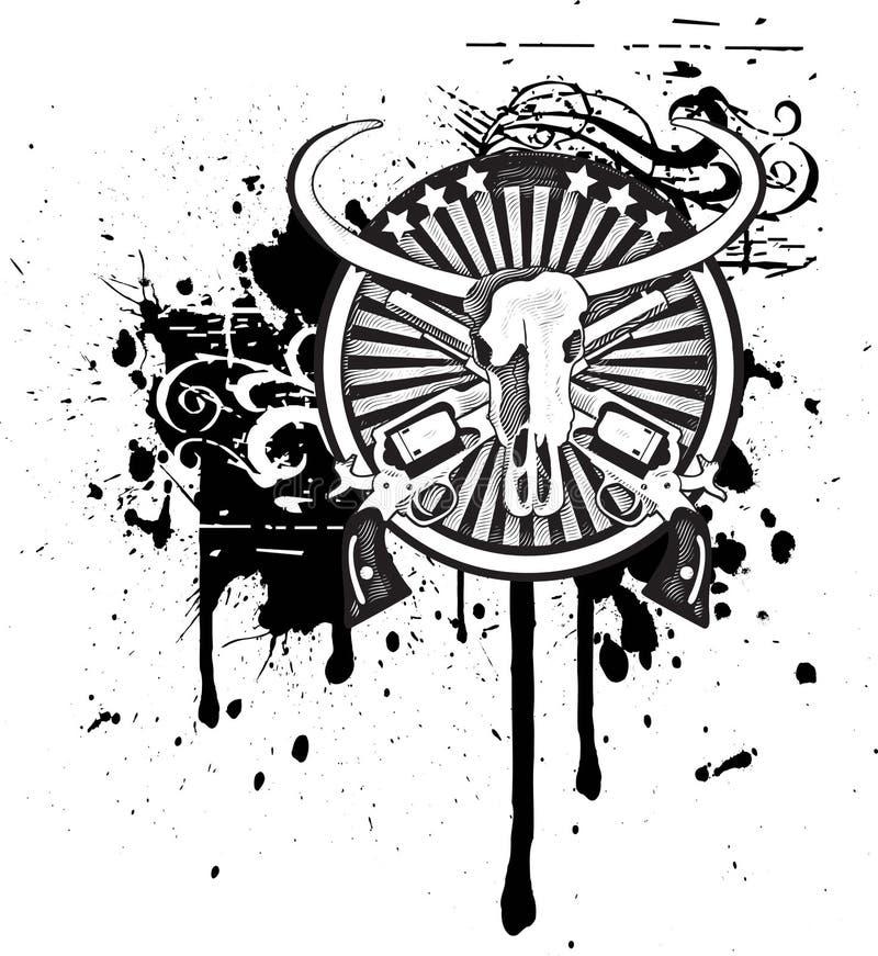 черное западное белое одичалое иллюстрация штока
