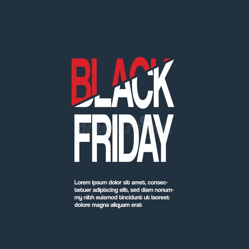 Черное знамя вектора продажи пятницы с специальным оформлением хлестало название Специальные предложения, скидки, роскошное продв бесплатная иллюстрация