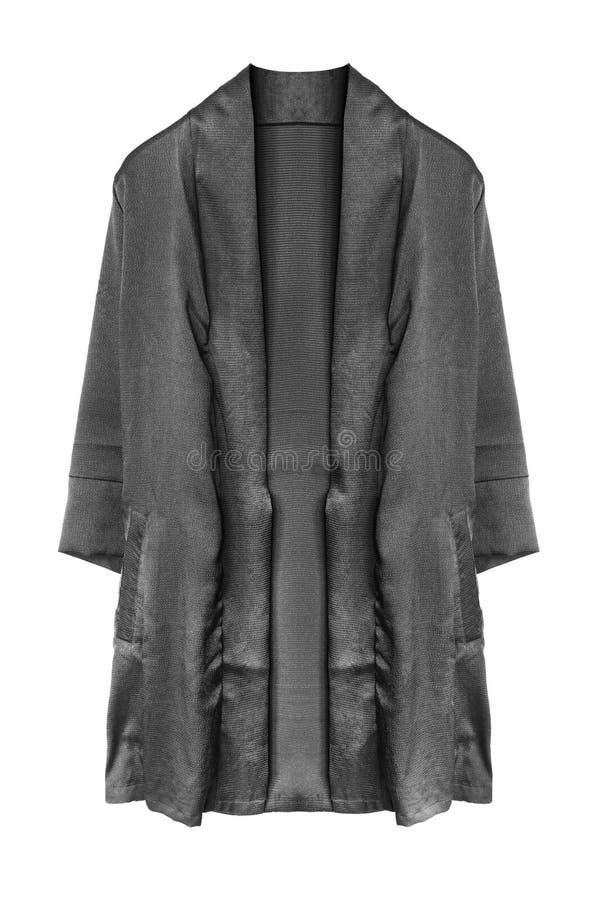 Черное изолированное кимоно стоковые фото