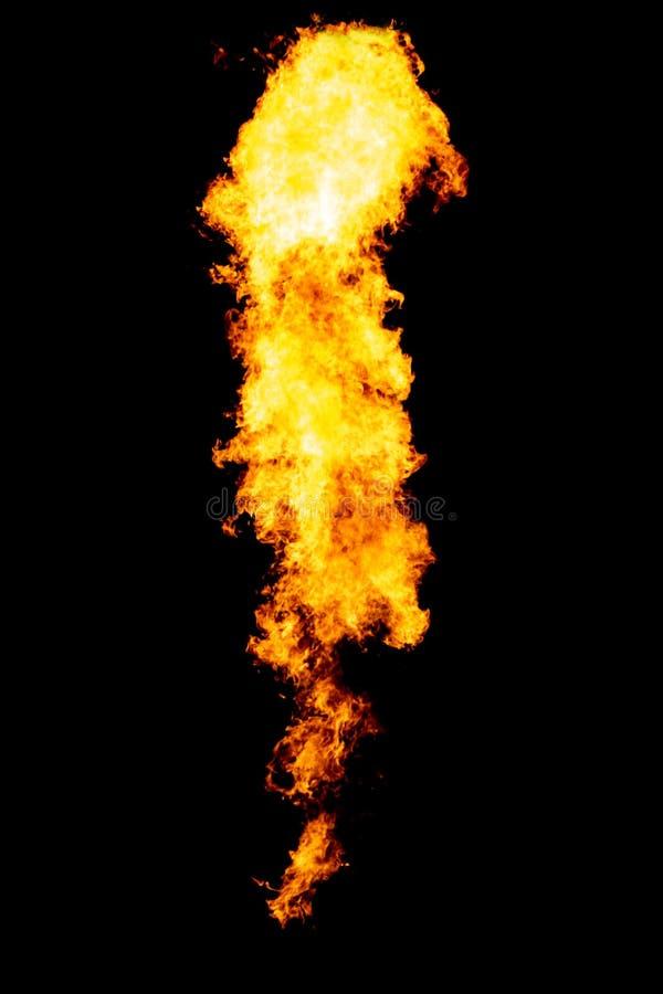 черное изолированное пламя стоковая фотография rf