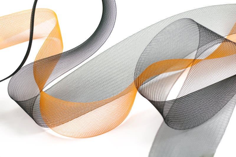 Черное и оранжевое плетение стоковое изображение