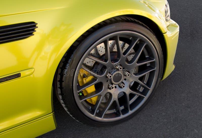 Черное колесо сплава стоковая фотография rf