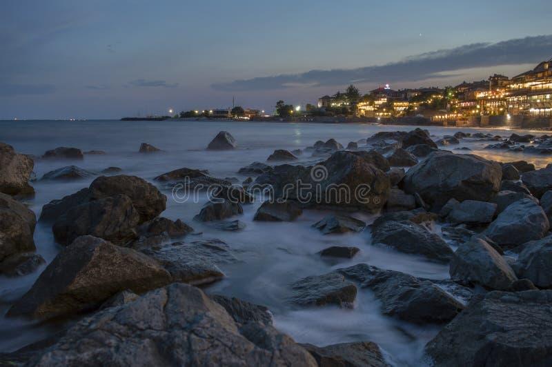 черное море Nesebar Bulgary стоковая фотография rf