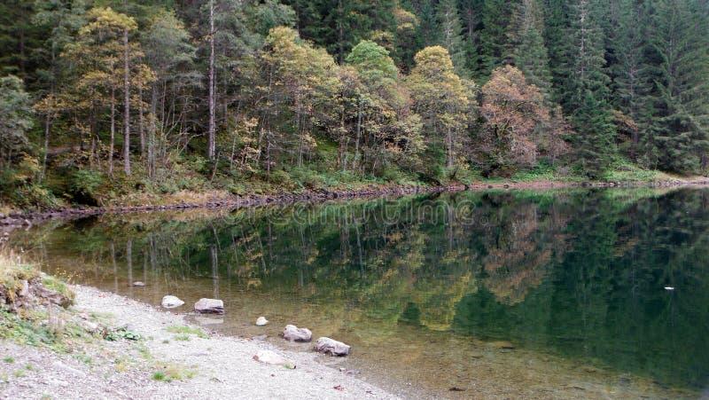 Черное озеро в Штирии стоковое изображение rf