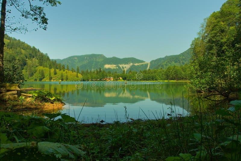 черное озеро borcka 4 стоковое фото rf