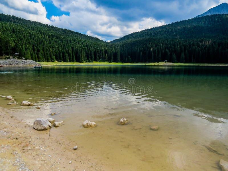 Черное озеро (Crno Jezero) стоковые изображения