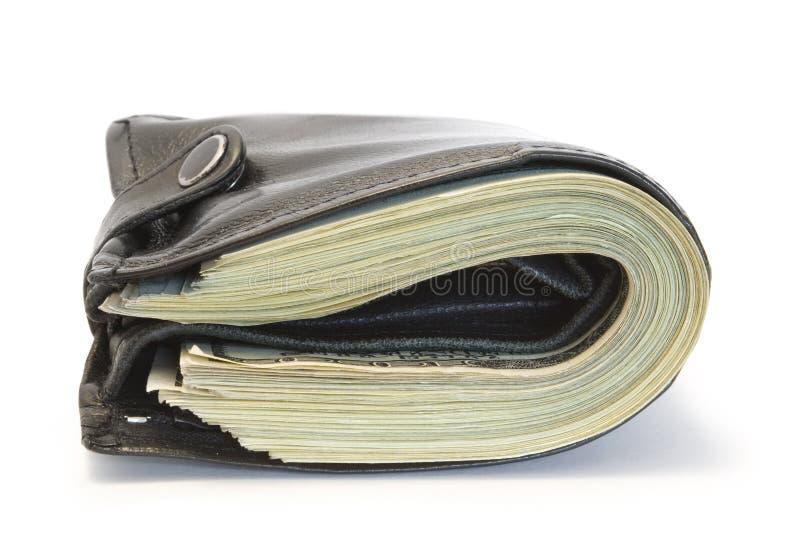 черное портмоне стоковое изображение rf