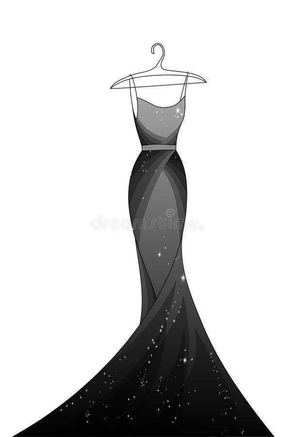 Черное платье стоковое фото