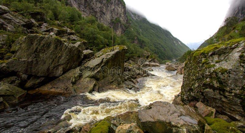 Черное река в горах Sayan, Сибирь!! стоковое фото