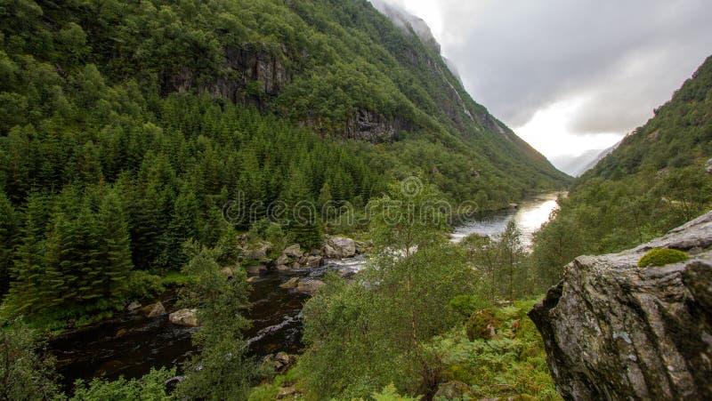 Черное река в горах Sayan, Сибирь стоковое фото rf