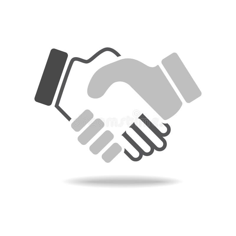 Черное рукопожатие значка Предпосылка для дела и финансов иллюстрация вектора