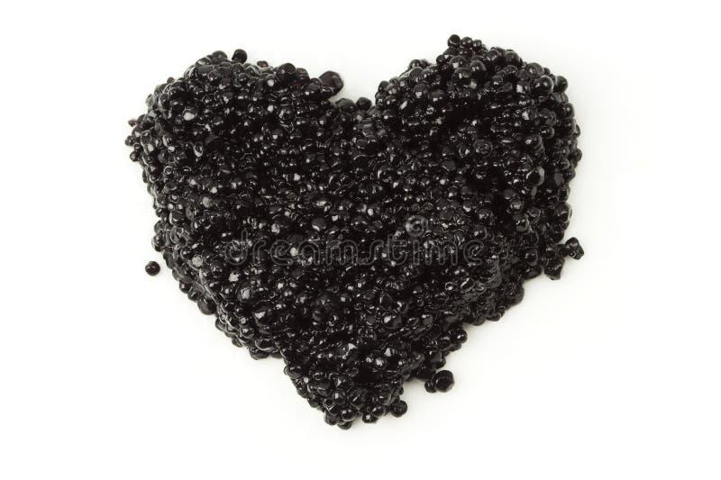 черное сердце икры стоковое фото rf