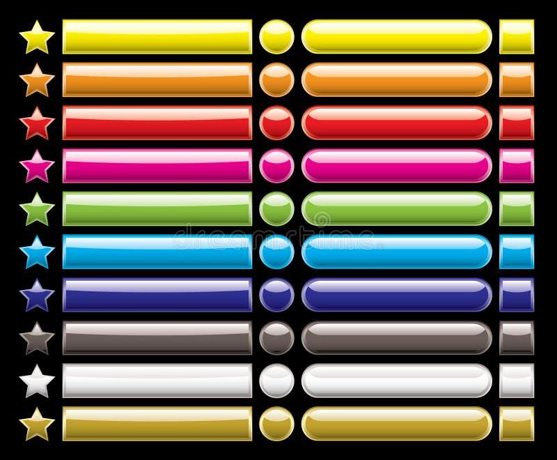 черное собрание кнопки бесплатная иллюстрация