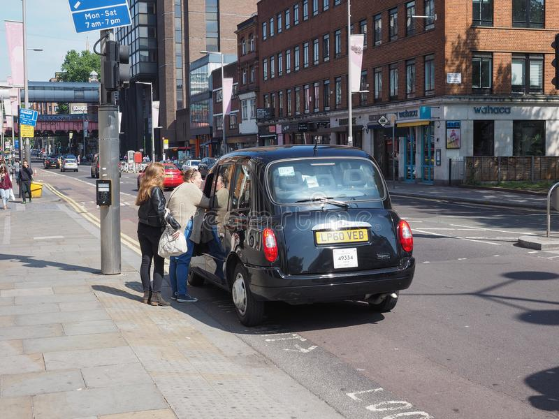 Черное такси кабины в Лондоне стоковые изображения rf