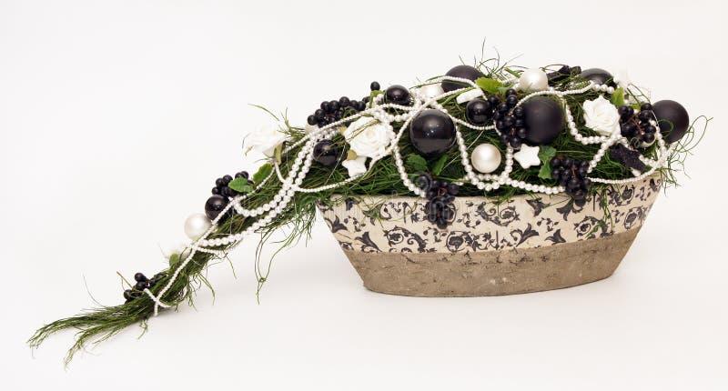 черное украшение рождества стоковые фотографии rf