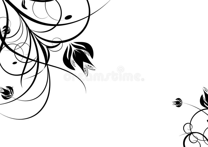 черное украшение иллюстрация штока