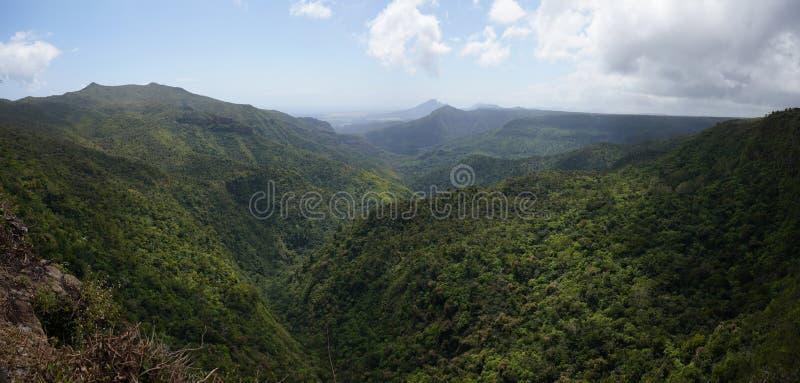 Черное ущелье реки, Маврикий стоковые фотографии rf