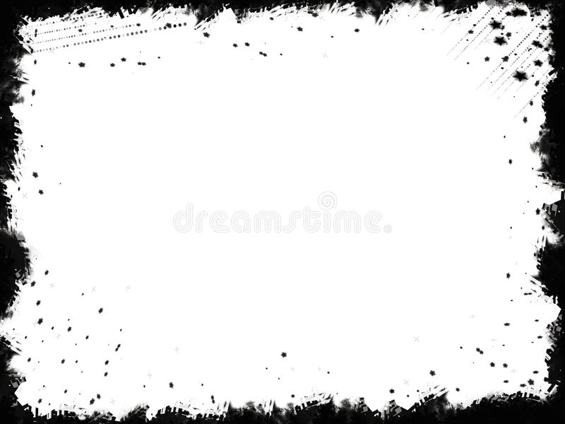 черное grunge рамки стоковая фотография