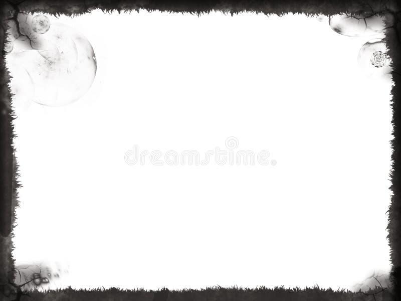 черное grunge рамки стоковая фотография rf