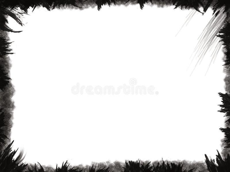 черное grunge рамки стоковые изображения rf