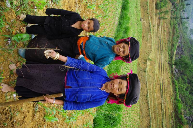 черное hmong семьи стоковые фото