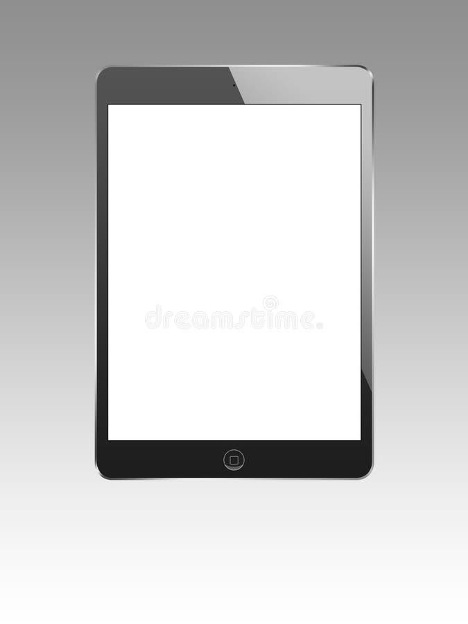 Черное ipad мини 2 иллюстрация вектора