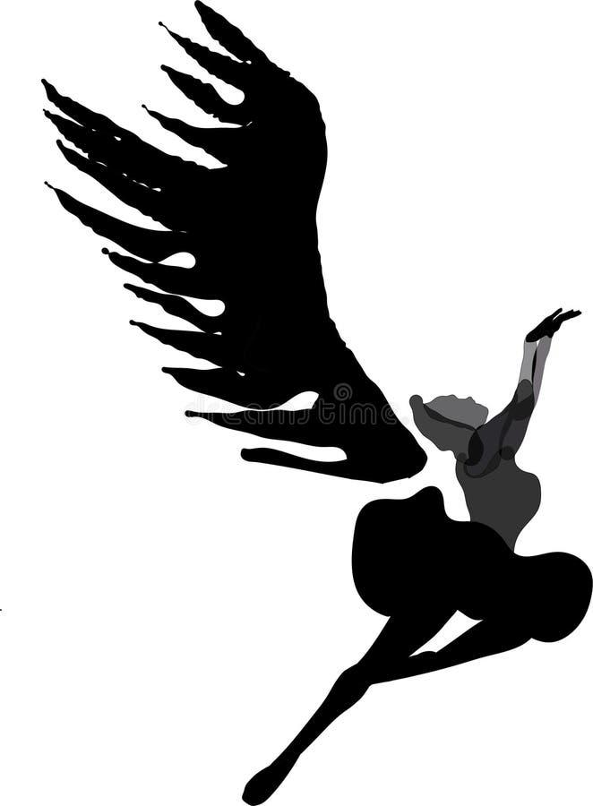 Черное swone хочет лететь вверх дальше к правому coner стоковое изображение rf