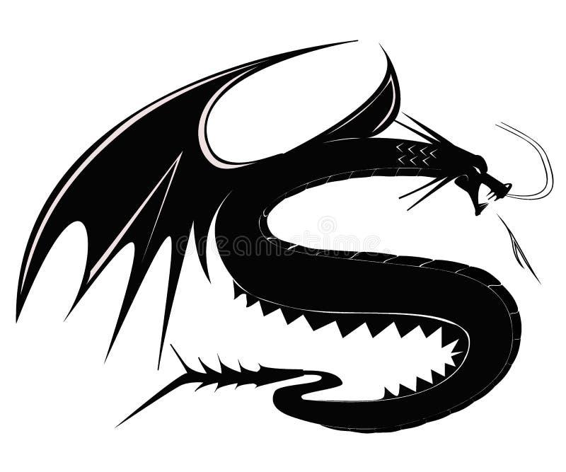 Черное tatto дракона стоковые фотографии rf