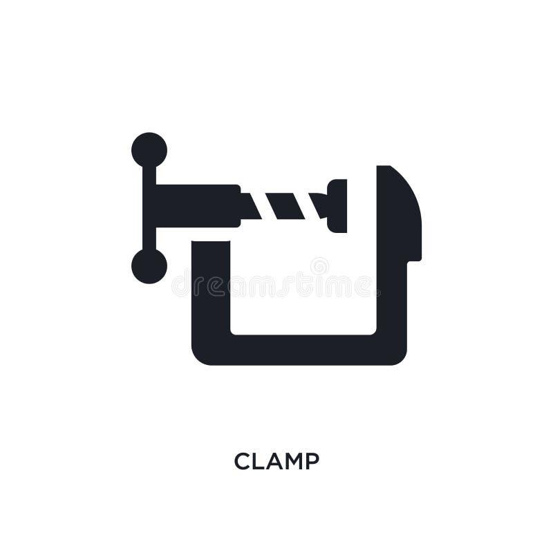 черной изолированный струбциной значок вектора простая иллюстрация элемента от значков вектора концепции индустрии символ логотип бесплатная иллюстрация