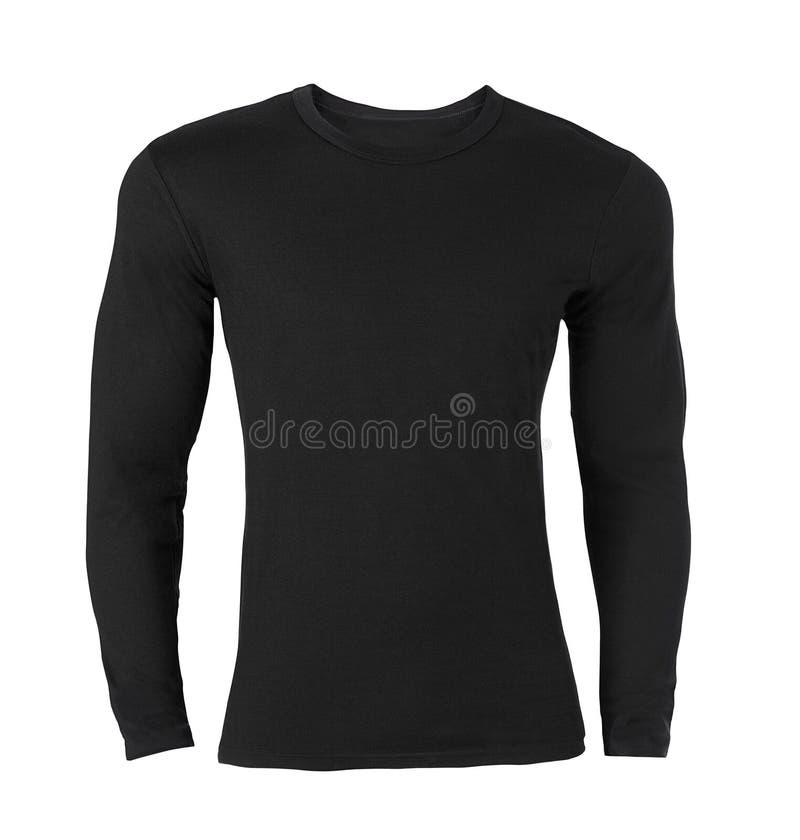 черной длинней t sleeved рубашкой стоковое фото rf
